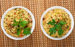Pilaf (meat, carrots, rice) stock photography