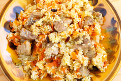 Pilaf with meat Royalty Free Stock Photos