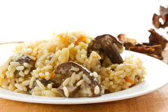 Pilaf with mushrooms Royalty Free Stock Photography