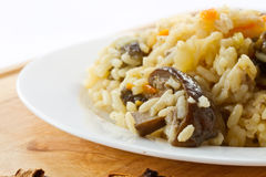 Pilaf with mushrooms Stock Photo