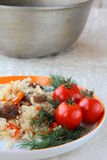 Pilaf oriental de repas Photos libres de droits