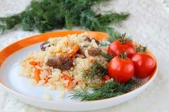 Pilaf oriental de repas Images libres de droits