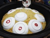 pilaf Oriental, plats nationaux d'Ouzbékistan avec du riz Viande, photo libre de droits