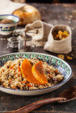 Pilaf with pumpkin Stock Photos