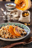 Pilaf with pumpkin Royalty Free Stock Photo