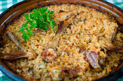 Pilaf - Romanian recipe royalty free stock images