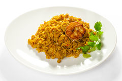 Pilaf served Royalty Free Stock Photo