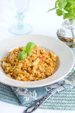 Pilaf with soya mince and vegetables Stock Photography