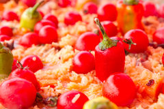 Pilaf with tomato Stock Photo