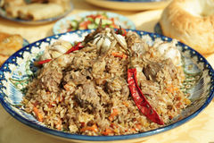 Pilaf, traditional dish of the Middle East Stock Photo