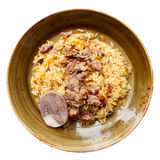 Pilaf, traditional dish of the Middle East, isolated Royalty Free Stock Photo