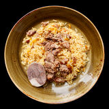 Pilaf, traditional dish of the Middle East,  Royalty Free Stock Photography