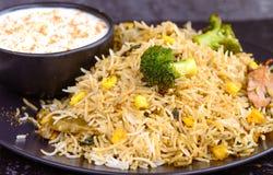 Pilaf végétarien de biryani ou de végétarien photos stock
