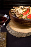 Pilaf and Wine Royalty Free Stock Images