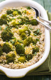 Pilaff with broccoli and lemon peel Stock Image