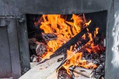 Pilaff - preparation on live fire Stock Photography
