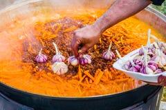 Pilaff - remove garlic Royalty Free Stock Image