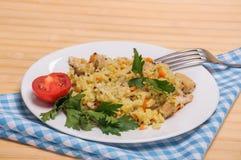 Pilafhuhn mit dem Zusatz von Quinoa Stockbilder