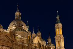 The Pilar basilica Royalty Free Stock Photos