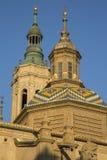 Pilar Basilica Cathedral Church; Saragossa Royalty Free Stock Images