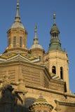 Pilar Basilica Cathedral Church; Saragossa Royalty Free Stock Photography