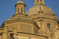 Pilar Basilica Cathedral Church; Saragossa Stock Image