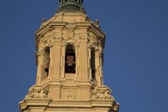 Pilar Basilica Cathedral Church; Saragossa Stock Photos