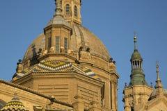 Pilar Basilica Cathedral Church; Saragossa Royalty Free Stock Photos