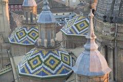 Pilar Basilica Cathedral Church; Saragossa Royalty Free Stock Image