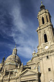 Pilar cathedral. View of Pilar cathedral in Saragossa Royalty Free Stock Photography