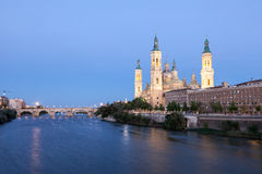 Pilar Cathedral in Zaragoza, Spain Royalty Free Stock Photos