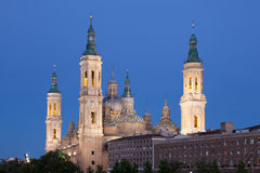 Pilar Cathedral in Zaragoza, Spain Royalty Free Stock Photography
