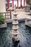 Pilar chino en la piscina Imagen de archivo libre de regalías