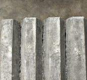 Pilar concreto del hexágono en suelo Imágenes de archivo libres de regalías