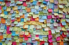 Pilar 2014 de los manifestantes de Hong-Kong Fotografía de archivo libre de regalías