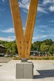 Pilar de madera Imágenes de archivo libres de regalías