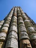 Pilar de piedra de la abadía arruinada antigua Imagen de archivo libre de regalías