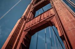 Pilar del Golden Gate Fotografía de archivo