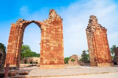 Pilar del hierro de Delhi, la India fotografía de archivo libre de regalías