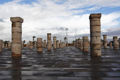 Pilar del mausoleo de Mohammed V. Imagen de archivo libre de regalías