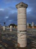 Pilar del mausoleo de Mohammed V. Imagen de archivo