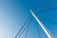 Pilar del metal blanco Foto de archivo libre de regalías