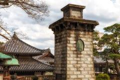 Pilar en Narita-san el templo, Japón Fotografía de archivo