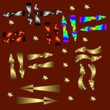 pilar färgade mång- Arkivfoto