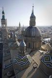 Pilar kerk van Gr in zaragoza Stock Afbeeldingen