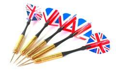 Pilar med den brittiska flaggan som är användbar för brittiska teman Royaltyfria Bilder