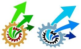 Pilar med kugghjul vektor illustrationer