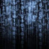 Pilar och binär kod Arkivfoto