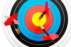 Pilar och dartboard royaltyfri fotografi