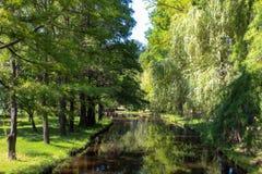 Pilar och floder parkerar Royaltyfri Foto